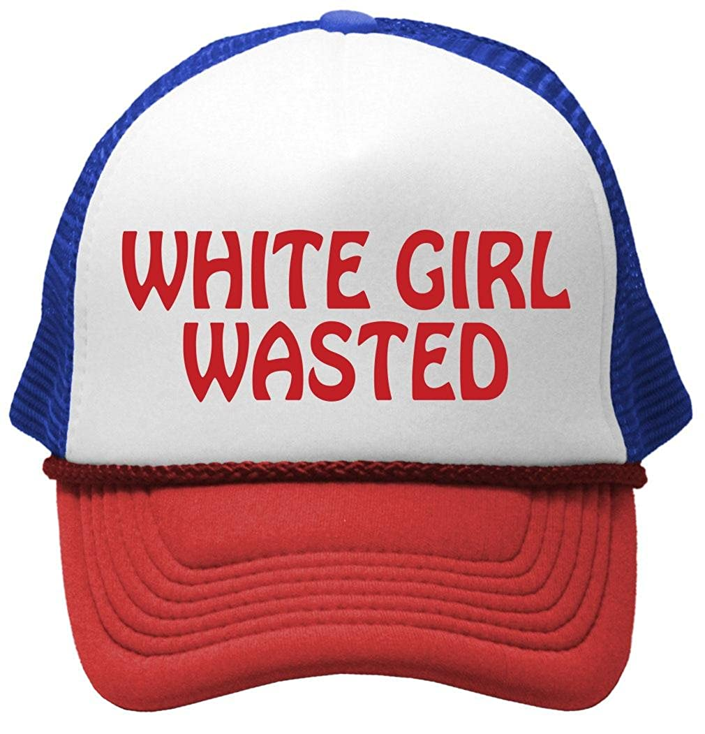 Amazon.com: White Girl Wasted - Funny Party Dance frat College Mesh Trucker Cap Hat, Black: Clothing