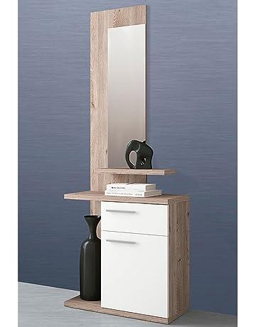 LIQUIDATODO ® - Mueble de recibidor Moderno Color Cambrian (Nelson)/Blanco - Enter