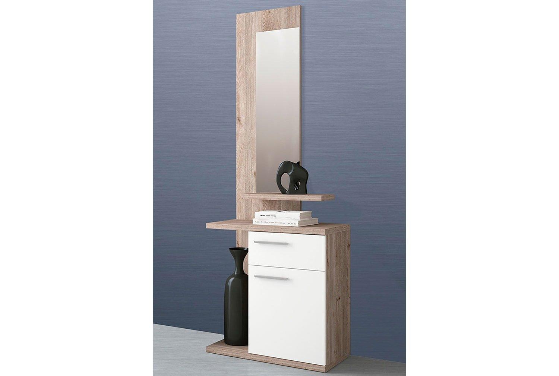 LIQUIDATODO  - Mueble de recibidor Moderno y Barato en Color Cambrian (Nelson)/Blanco