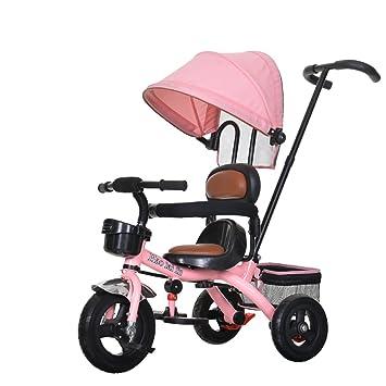 Triciclo para Niños Bicicleta 1-3-6 Años Bicicleta Grande para Bebés Asiento Suave Cochecito Hombres Y Mujeres Carros De Bebés Protector Solar Especial: ...