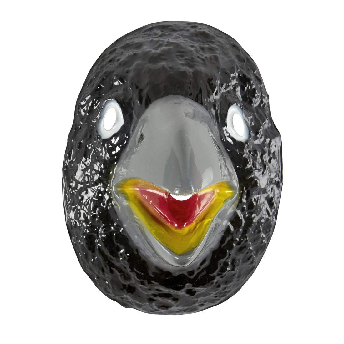 NET TOYS Má scara de Cuervo Rasputin para niñ o y niñ a | Negro-Gris | Original má scara Infantil Mascara de Ave Cuervo | Ideal para carnavales y Festivales