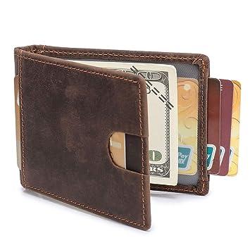 39af18df4ba41 WinCret Mini Geldbörse Herren mit Geldklammer - Schlanker Geldbeutel Männer  mit RFID-Schutz ID-