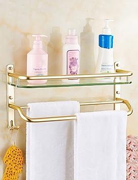 XIAOLIN-- Baño Racks Espacio Aluminio Aluminio Baño Toalla Estantería Baño Estantes (Tres Modelos Pueden Elegir Tres Tamaños) --Bastidores de baño (Tamaño ...