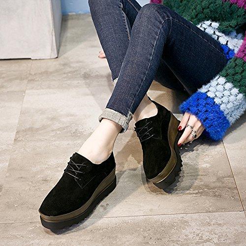 Nuevos Nueve Plataforma Con Cuero Zapatos KHSKX PendienteBlackTreinta Los De De Y Zapatos Moda De Zapatos Moda ACwqw5xZ0