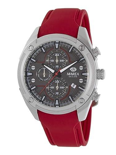 Reloj Marea Analógico Multifunción Hombre B54156/4 con Calendario, Correa de Silicona Roja: Amazon.es: Relojes