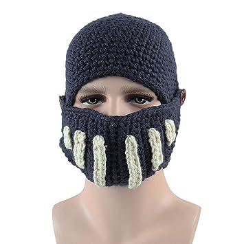 Sombrero de gran barba mascara de punto gracioso. Unisex Hecho A Mano Hecho A Mano Sombrero ...