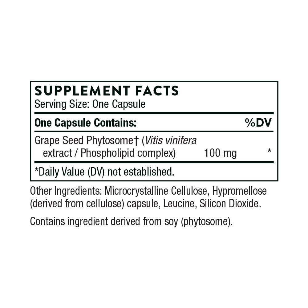 Thorne Research - O.P.C.-100 - Grape Seed Phytosome for Antioxidant Support - 60 Capsules by Thorne Research (Image #2)