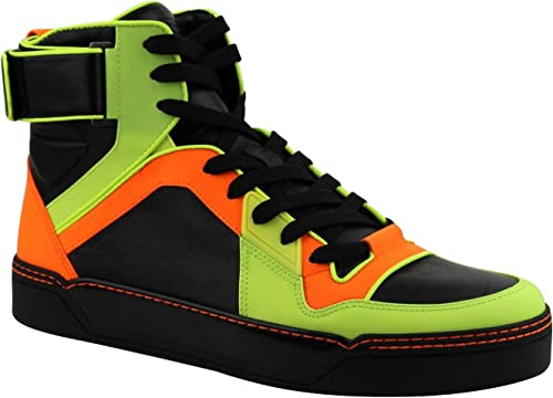Gucci Mens Sneakers Neon Leather Logo