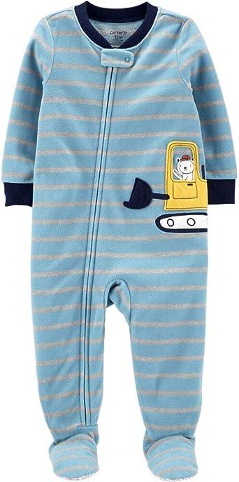 Carters 1-Piece Constuction Fleece Footie PJs 2T