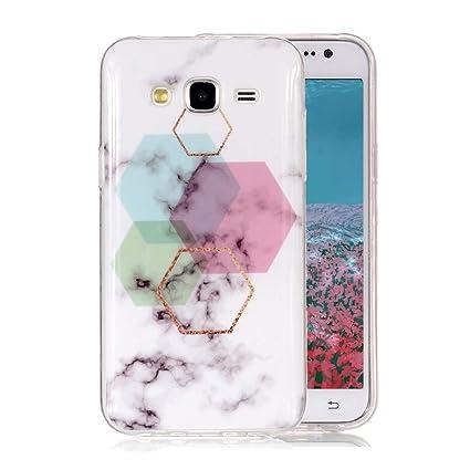 Funda Mármol para Samsung Galaxy J5 2015, Ronger Carcasa Gel TPU Silicona Marble Case Cover Moda de Ciencia Ficción Funda Ultra Fino Flexible Funda ...