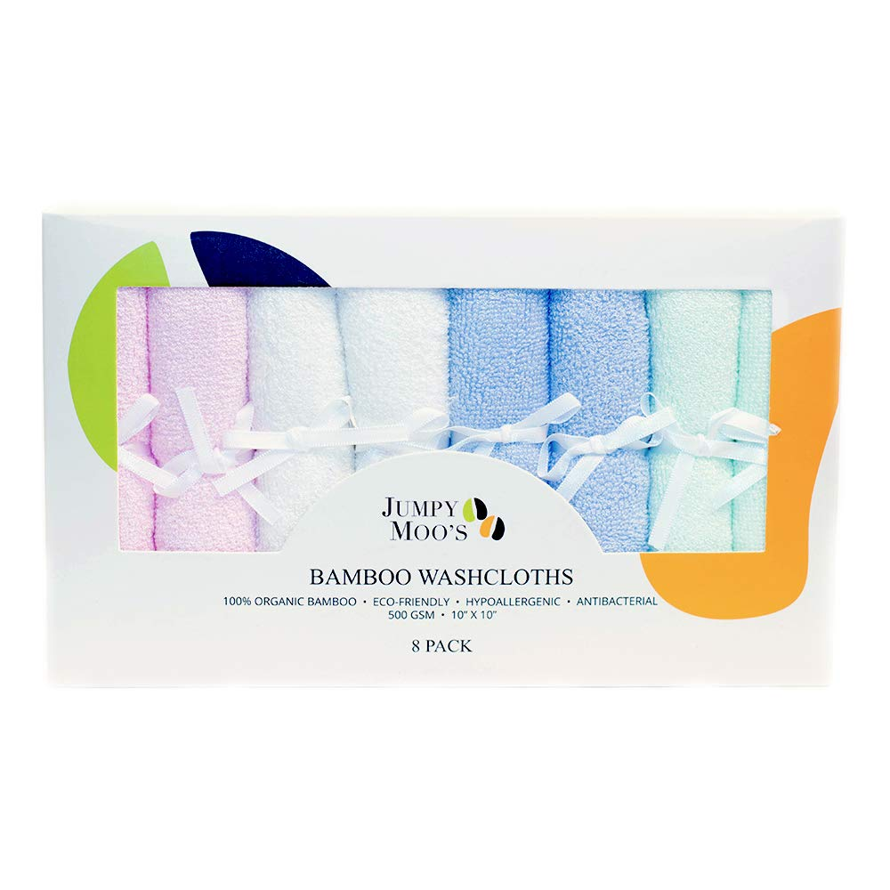 Perfect Gift For Baby Shower 500 GSM Hypoallergenic   100/% Bamboo White Soft /& Delicate Fabric 10 x 10 In Antibacterial /& Natural UV Protectant Highly Absorbent 6-Pack Organic Baby Washcloth Newborn Girls /& Boys