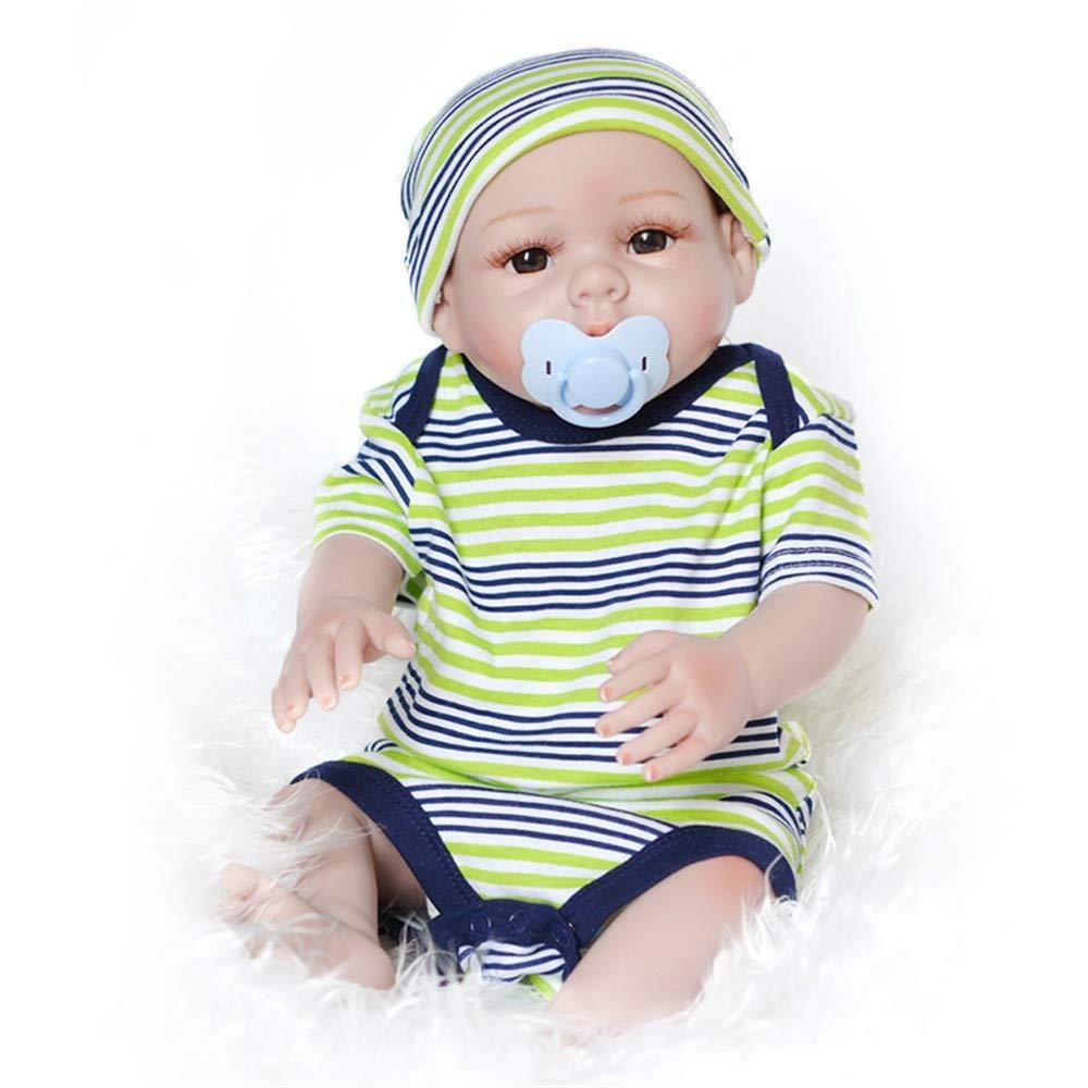 Omiky® New Born Baby Puppe, Funktions-Baby-Puppe, Vinyl-Puppe, lebensecht, realistisch, weich, Mädchen, Jungen, Baby, Geschenkidee,55 cm