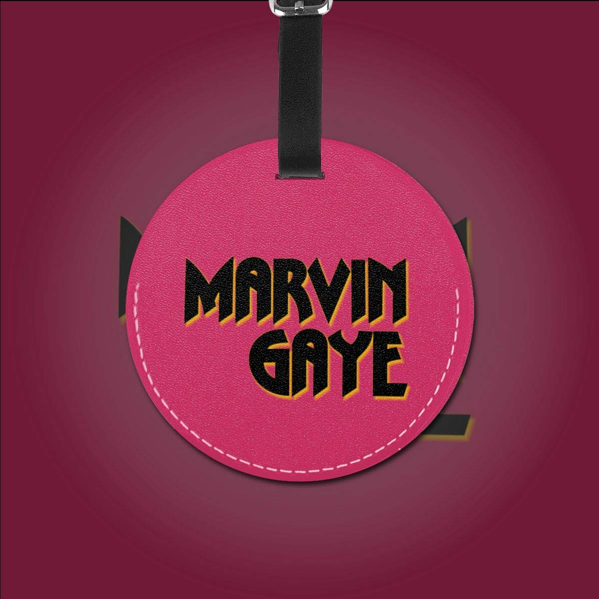 LIKUNMING Marvin Gaye Travel Luggage Tags Travel Suitcase Bag Labels Checked Baggage Tags