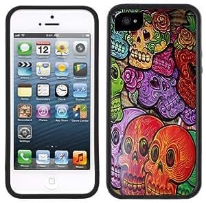 Day of the Dead Dia de los Muertos Handmade iPhone 5 5S Black Case