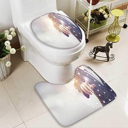 Amazon com: Analisahome Lid Toilet Cover businessman hand