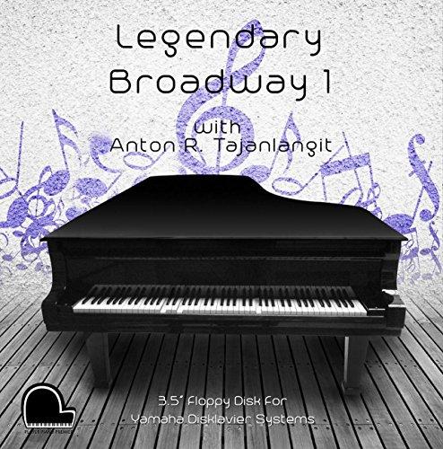 "Legendary Broadway 1 - Yamaha Disklavier Compatible Player Piano Music on 3.5"" DD 720k Floppy Disk"