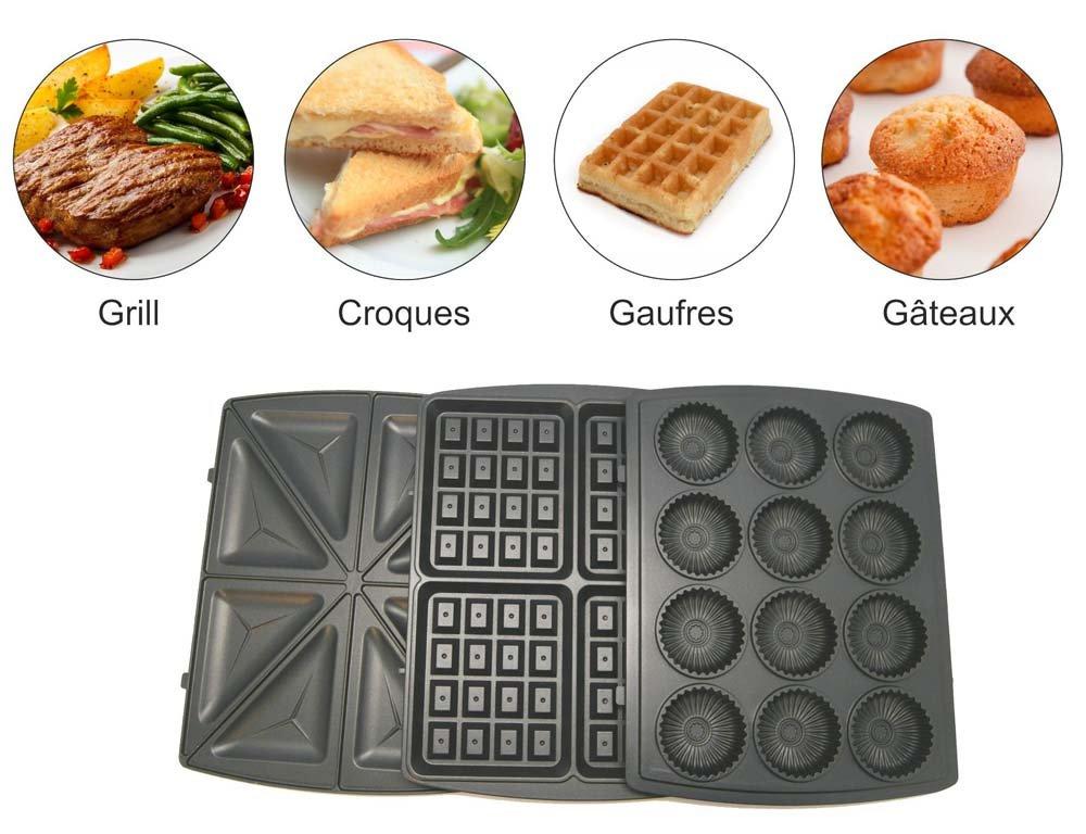 Gaufrier Grill 4 en 1 multifonction XL Akor: Amazon.fr: Jeux et Jouets
