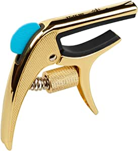 Muslady Single-handed Guitar Capo Clamp Multifunctional with Bridge Pin Puller Guitar Pick Slot for Acoustic Electric Guitars Bass Ukulele