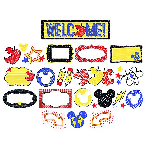 Eureka Mickey Color Pop! Welcome Mini Bulletin Board Set (847066)