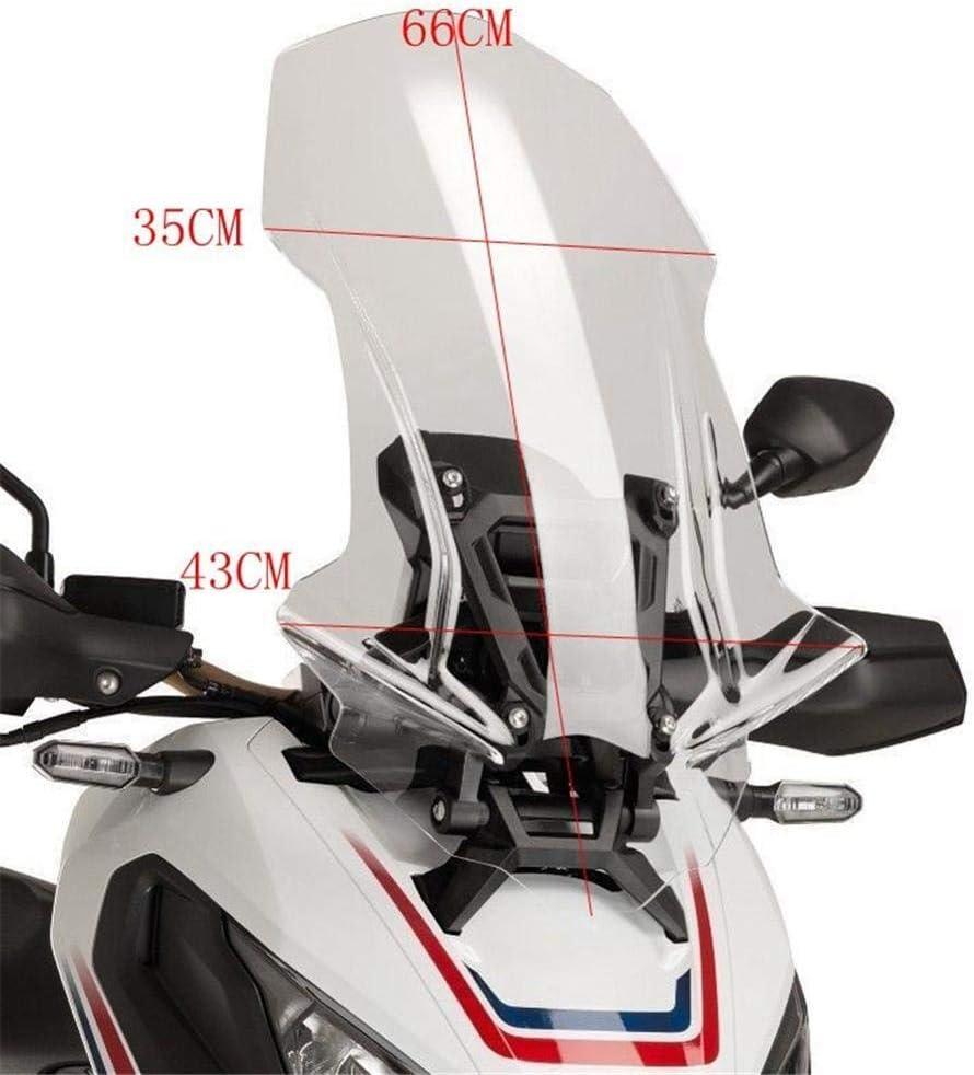 Revelaci/ón Ajuste For Honda XADV750 X ADV750 X-ADV 750 2017 2018 Pantalla De Viento Deflector De Viento Parabrisas Accesorios De La Motocicleta Color : Clear