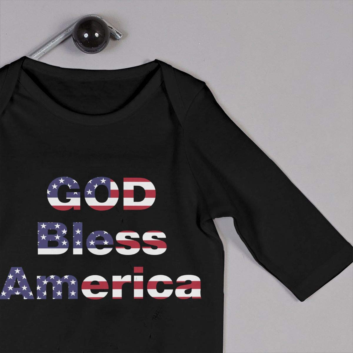 Fasenix Logo God Bless America Newborn Baby Boy Girl Romper Jumpsuit Long Sleeve Bodysuit Overalls Outfits Clothes
