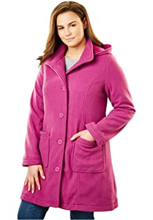 10b8fb74c42 Amazon.com  Woman Within Plus Size Wool-Blend Classic A-Line Coat ...