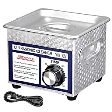 AW 1.3L(1/3 Gallon) Ultrasonic Cleaner 60W w/ Timer Jewelry Glasses Tattoo Dental Home health Care