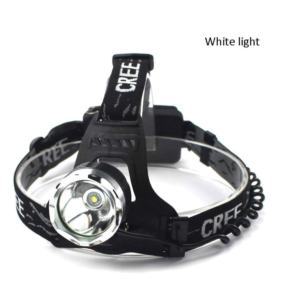 QAZWS LED Rechargeable Headlamp Super Bright Headlight with 3 Rechargeable Batteries for Long Working time, USB Cable Charge, Flashlight, Perfect for Night Riding, Hiking, Fishing, Camping by QAZWS