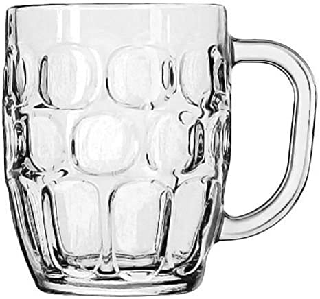 Amazon Com Libbey Glass 19 25 Ounce Dimpled Beer Stein Mug Set Of 24 Beer Glasses Beer Mugs Steins