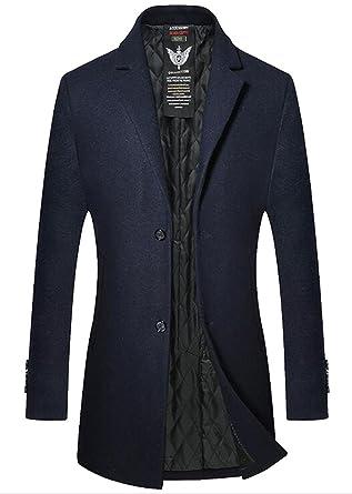Wool Boutonnage Laine Homme Hiver Blend Manteau Manteaux Simple De Xwqqn0CxU