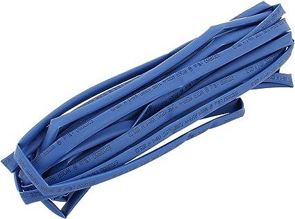 sourcingmap/® 5mm Di/ámetro tubo termoretr/áctil tubo funda para cable el/éctrico 9M 30Ft azul