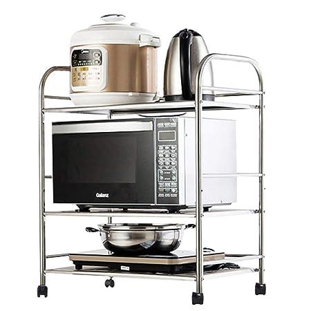 Estante de cocina Horno de microondas de cocina de acero ...