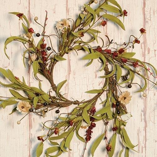 Heart of America Teastain Country Flower Wreath 12''