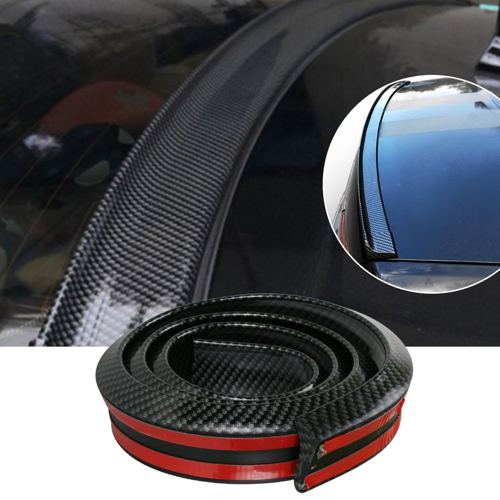 Bande Gogolo JDM brillante et universelle en caoutchouc EPDM - 150 cm - Pour coffre arriè re, pare-chocs, toit de vé hicules SUV - Protection 100 % é tanche - Couleur noire