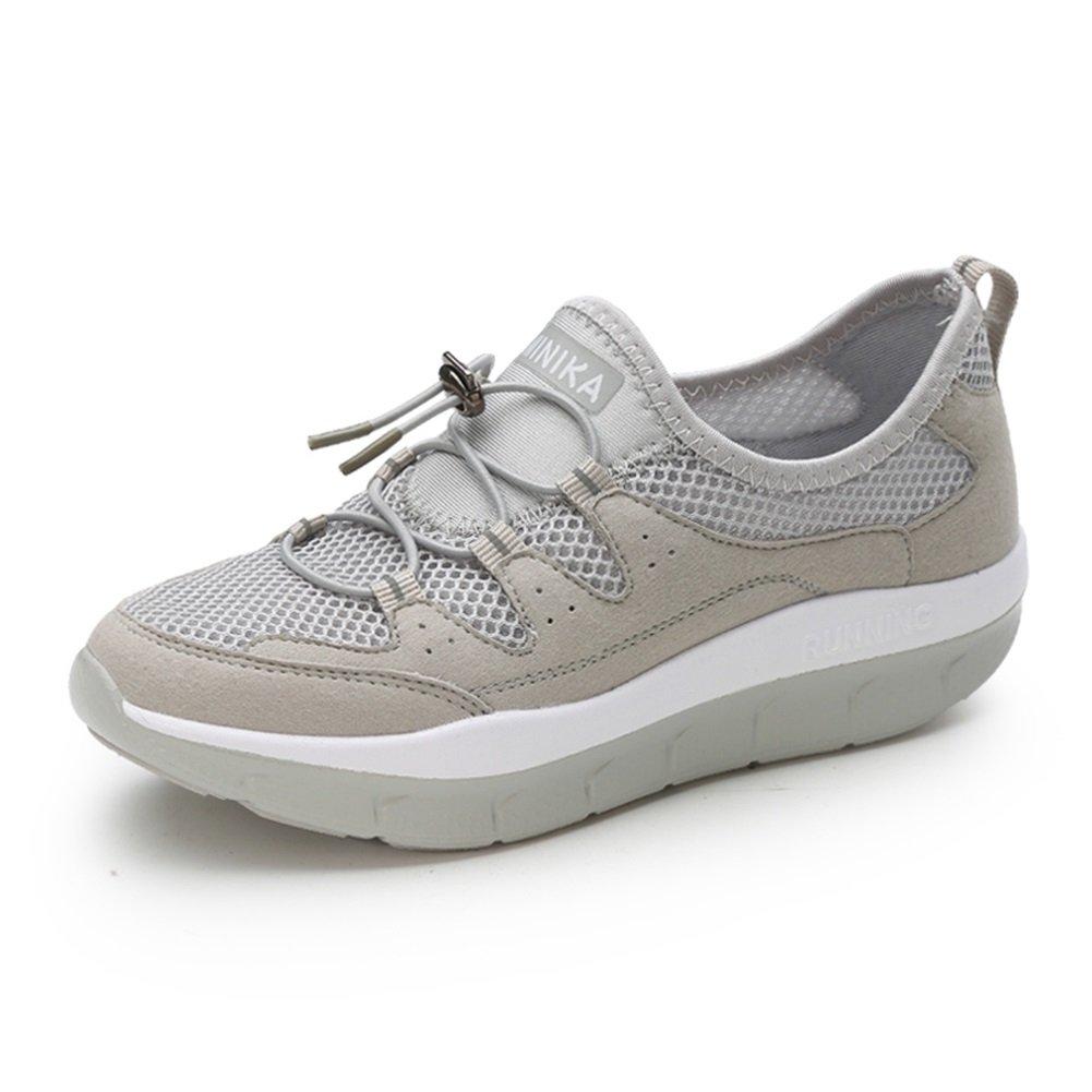 Zapatos Shake para Mujeres, Zapatillas de Deporte Antideslizantes, Calzado Deportivo de Señora de Primavera/Otoño, Transpirable, Zapatos de Salón Cómodos Suaves en el Fondo 36 EU|Do
