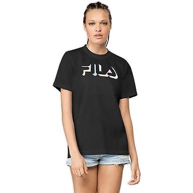 Fila Women's Liona Mesh T-Shirt, Black, ...