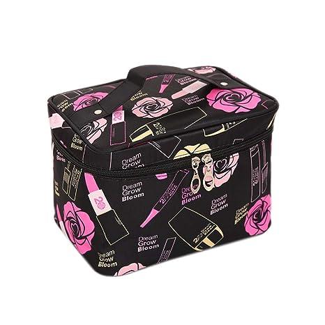 Scrox 1x Cosméticos Organizador Bolsa de Lavado Bolsas Viaje Portátil Estuches Mano Deporte Bolsas de Maquillaje Profesional Impermeable Neceser (E)