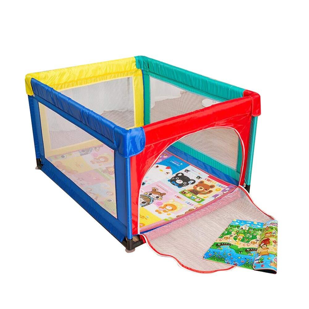 【予約受付中】 屋内スクエアベビーセーフティフェンスクロールマット幼児フェンスホームベビーゲームPlaypen子供の遊びフェンス (色 B07JDVYYJT、95×120cm (色 : Playpen+mats) Playpen+mats Playpen+mats) B07JDVYYJT, RANDA:fcafd1fa --- a0267596.xsph.ru