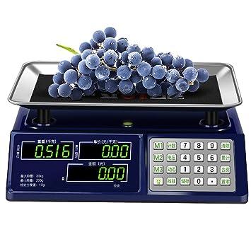 ZNND Balanzas Electrónicas , Pantalla De Doble Cara LED Pantalla De HD Precio Comercial 30kg / 200g Precisión Pesaje De Cocina Fruta De Supermercado ...