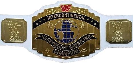 Bleu WWF intercontinental en Cuir Synthétique Ceinture Pour Mattel//Jakks//Hasbro figures
