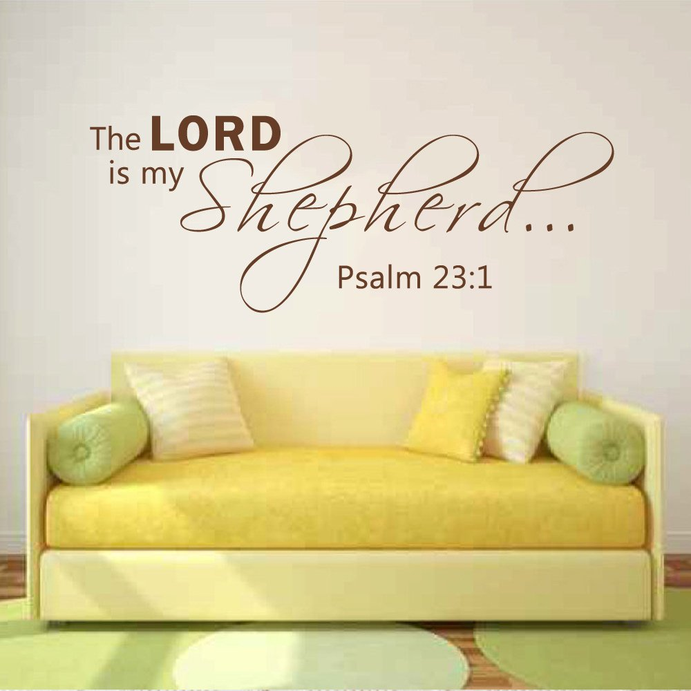 Amazon.com: The Lord Is My Shepherd Bible Verse Psalm 23:1Wall Decal ...