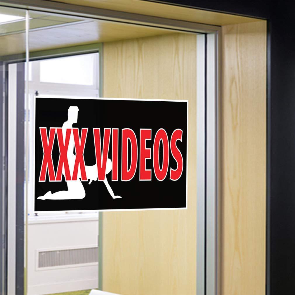 Decal Sticker Multiple Sizes XXX Videos Business Lifestyle XXX Videos Outdoor Store Sign Black Set of 10 14inx10in