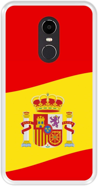 Funda Transparente para [ Xiaomi Redmi Note 4X ] diseño [ Ilustración 2, Bandera de España ] Carcasa Silicona Flexible TPU: Amazon.es: Electrónica