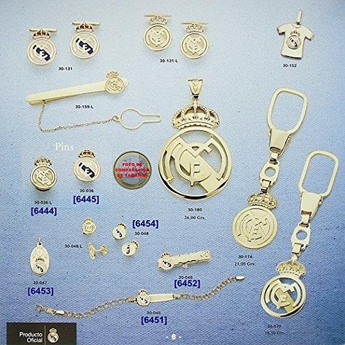 Parchemin pendentif Real Madrid Bouclier d'or 18k petite loi émaillé [6447GR] - Modèle: 30-041 - personnalisable - ENREGISTREMENT inclus dans le prix