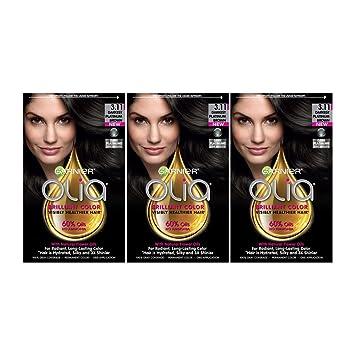 Garnier Olia Hair Color, 3.11 Darkest Platinum Brown, Ammonia Free Hair Dye, 3