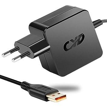 CYD 45W PowerFast-Portátile-Netbook-Cargador y Lenovo IdeaPad 2 260 460 S1 S1-120 S1-S240 11e 300 500-14ACL 500-14ISK 500-15ACL 500-15IBD 500-15IHW ...