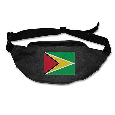 Futong Huaxia Flag Of Guyana Unisex Waist Packs Adjustable Outdoor Running Sport Hiking Fanny Packs Wallet