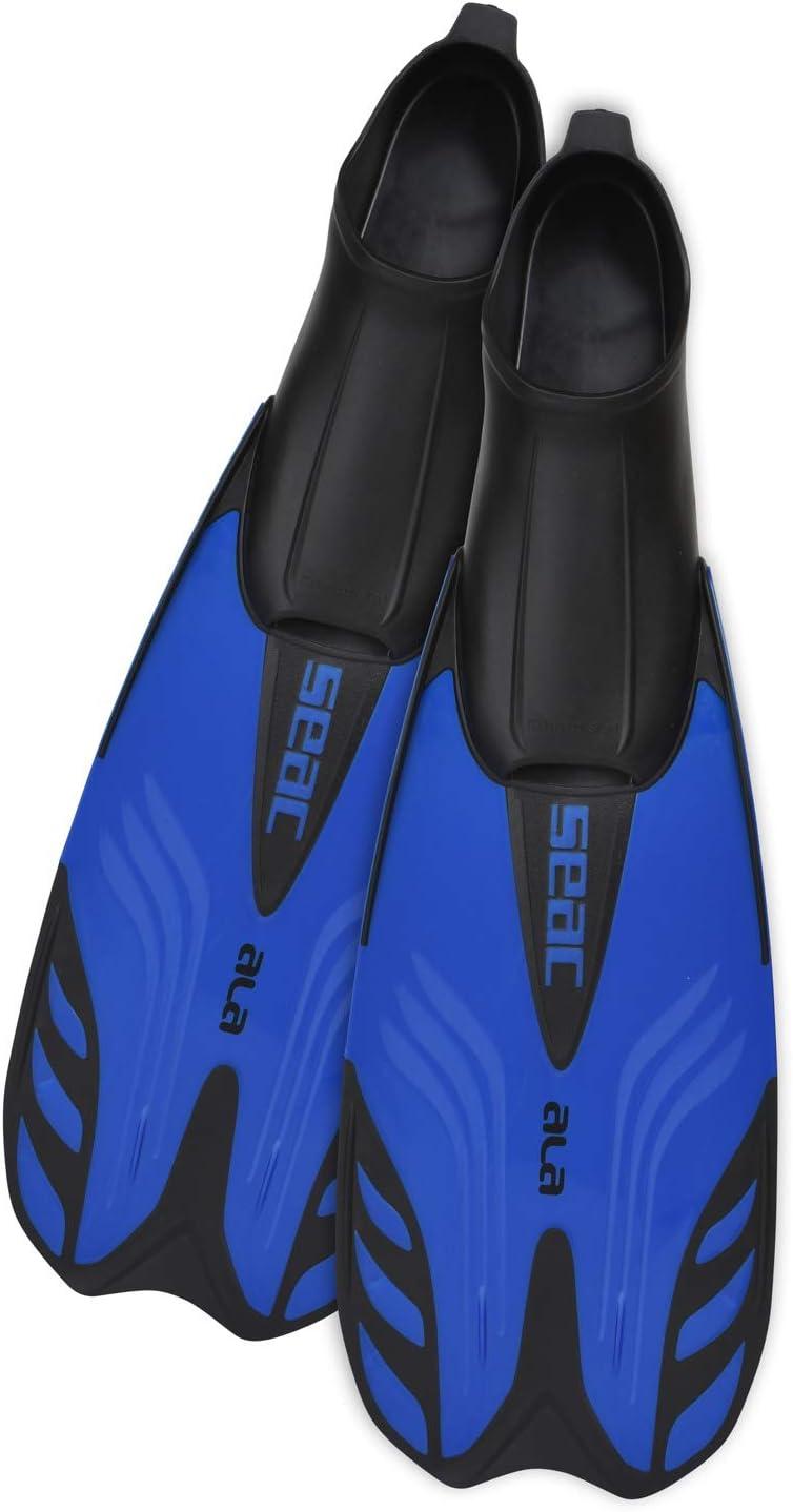 ideal zum Schnorcheln und Schwimmen Flossen mit geschlossenem Fu/ßteil 40//41 Seac Ala GELB