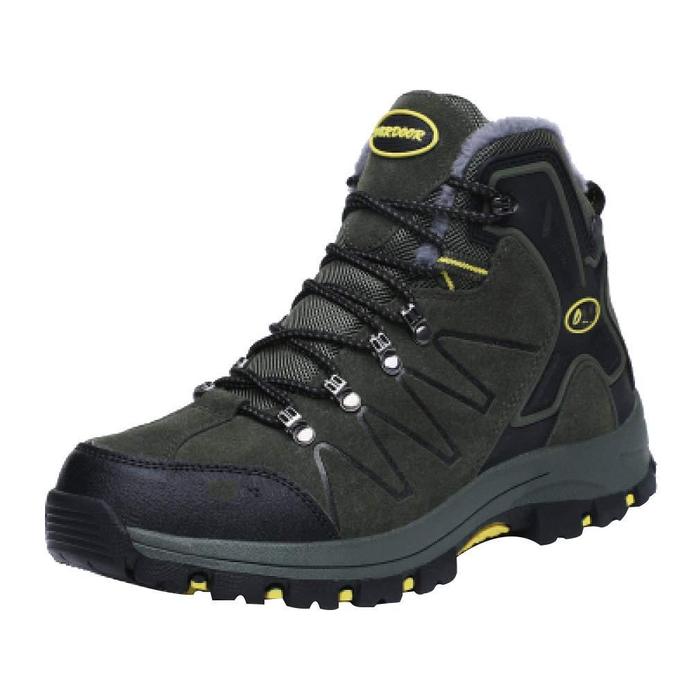 Wanderschuhe Herren Wintersport Schuhe Warm Plus Samt Baumwolle Schuhe Herren Reise Schuhe Outdoor Schuhe Mittleren Alters