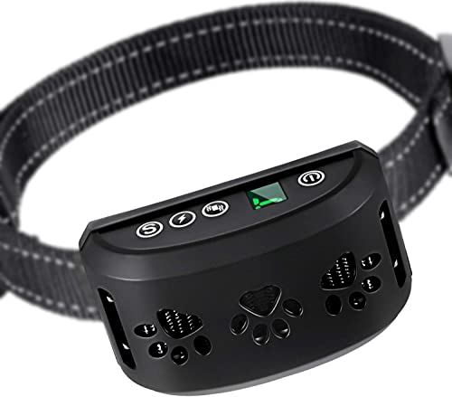 ZGO Dog Bark Collar – Bark Control Training Collar w 2 Modes Beep Vibration w or w o Shock for Small Breed Medium Large Dogs ZGO-165 Rechargeable Anti Bark Collar Smart Detection Module